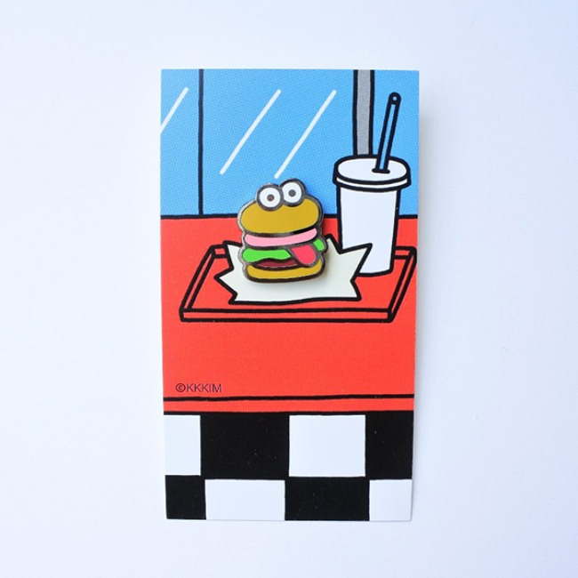 [KKKIM] Pin badge_Burger
