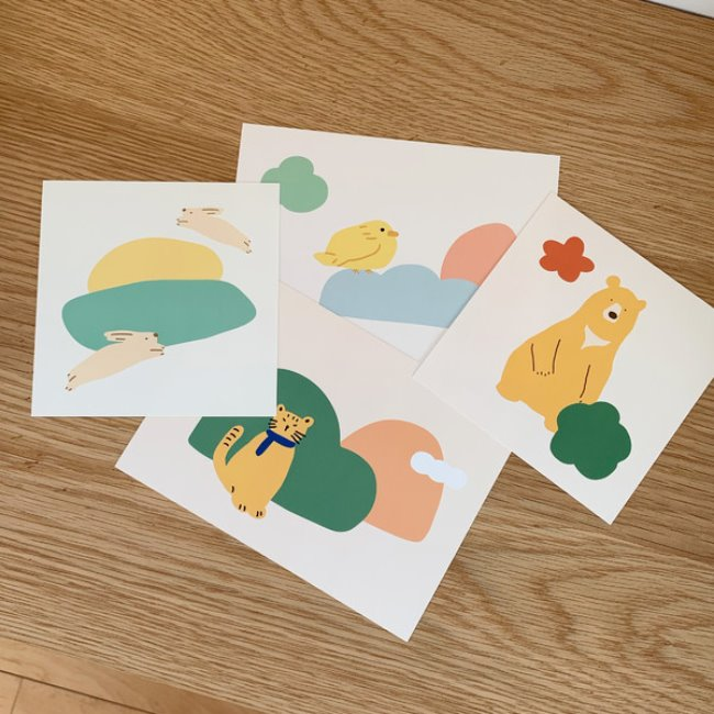 [ppp studio] animal card