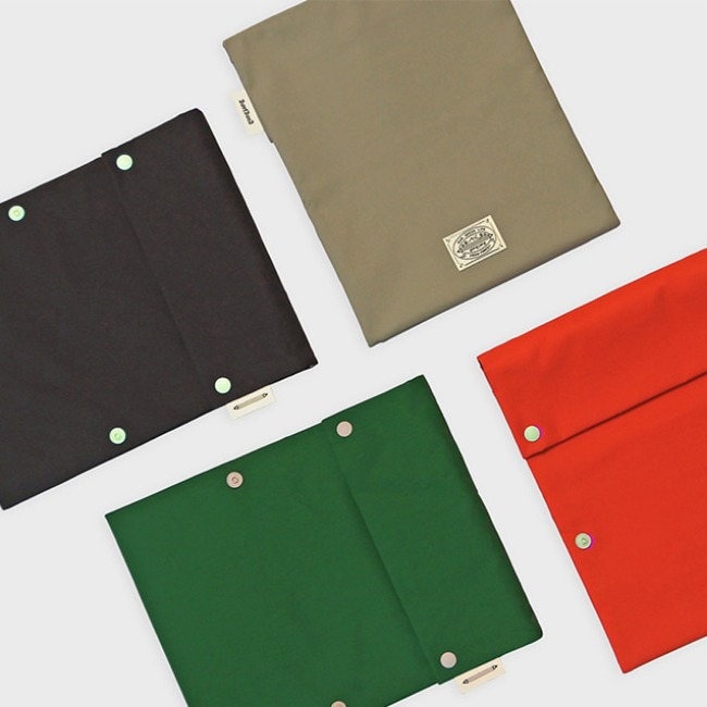 [공장] Two button book pouch-4 colors