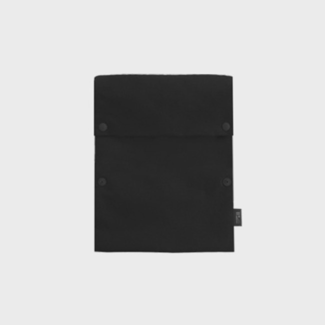 [공장] Two button book pouch_Black