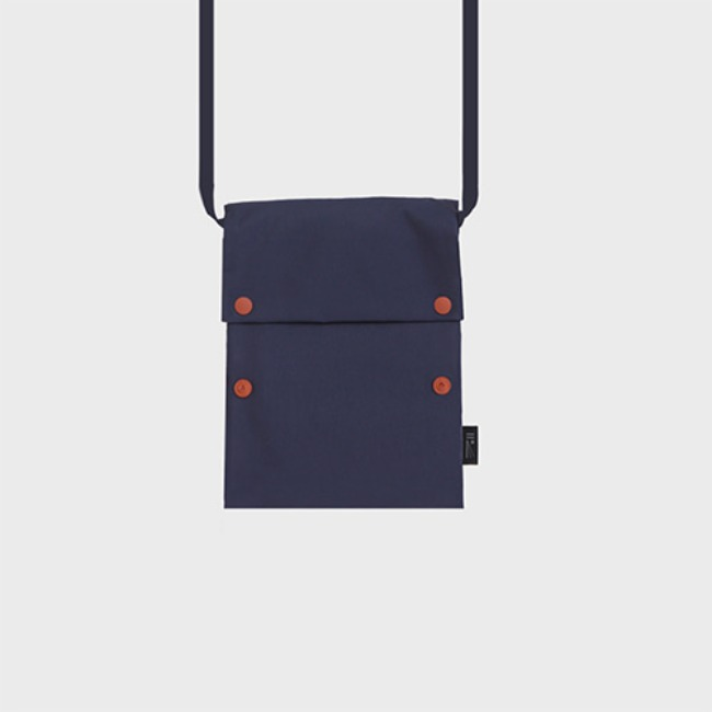 [공장] Two button book pouch cross_Navy