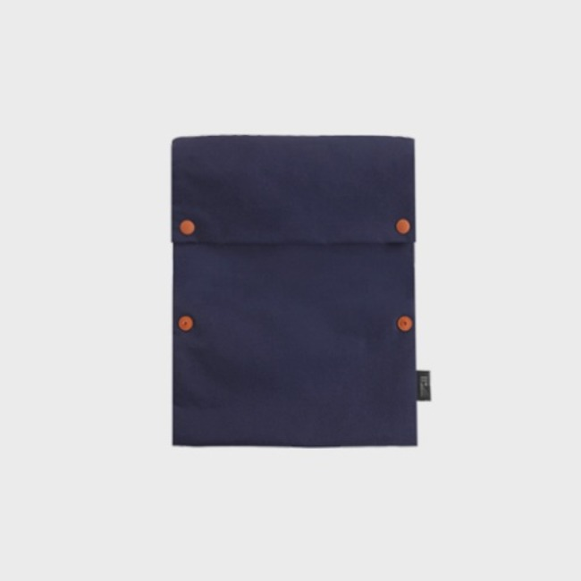 [공장] Two button book pouch_Navy