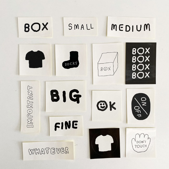 [이나피스퀘어] IN THE BOX STICKER SET_BOX