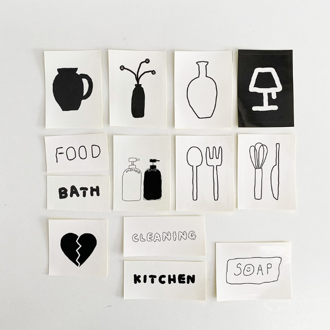 [이나피스퀘어] IN THE BOX STICKER SET_KITCHEN