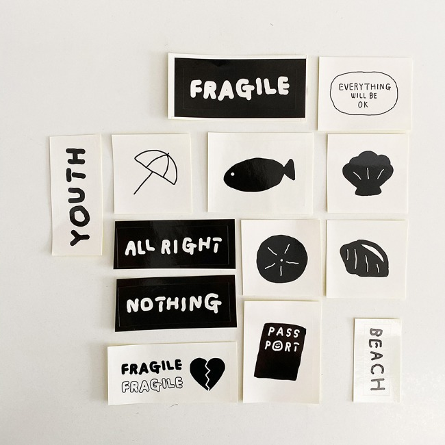 [이나피스퀘어] IN THE BOX STICKER SET_TRAVEL