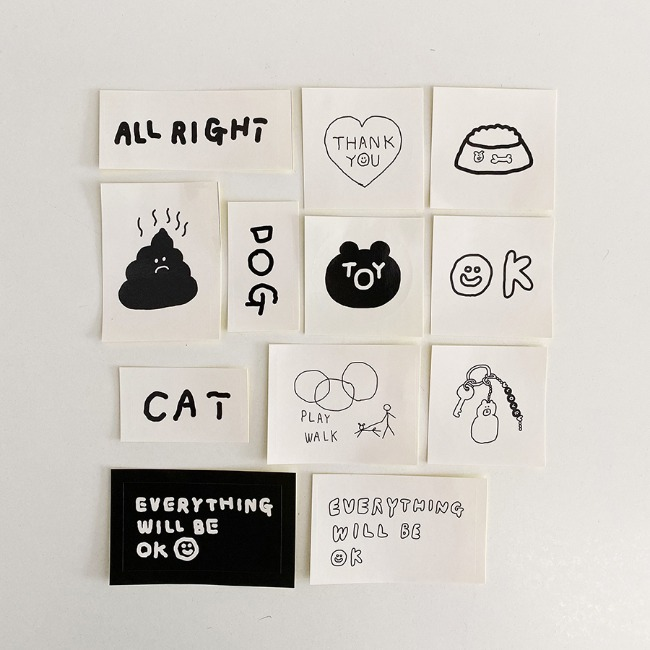 [이나피스퀘어] IN THE BOX STICKER SET_TOY