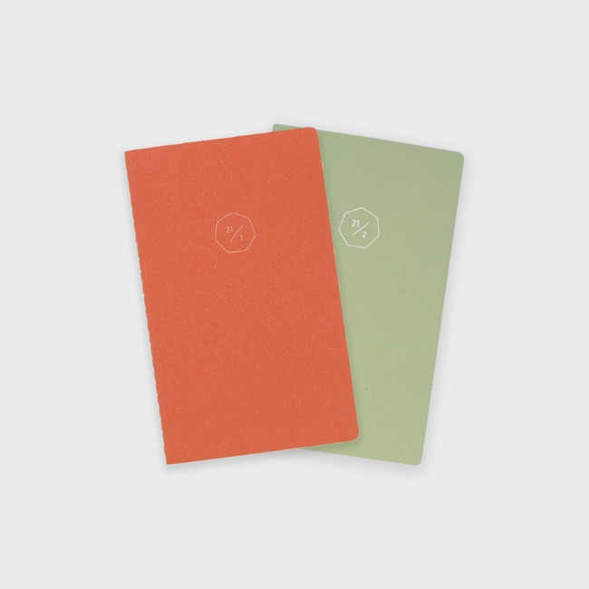 [공장] 21 HALF DIARY set _ orange,green