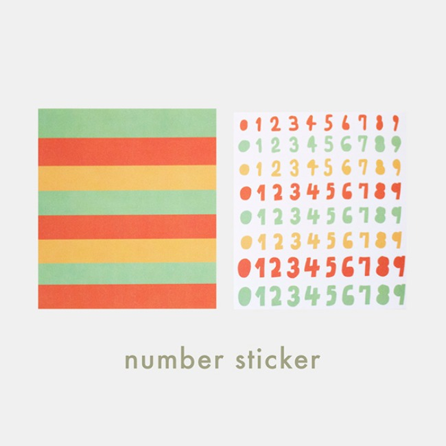 [ppp studio] number sticker
