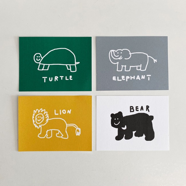 [이나피스퀘어] LOVE ANIMAL POST CARD