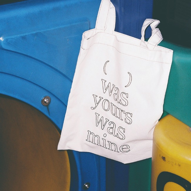 [was yours was mine] ( wywm ) cotton bag - BLACK