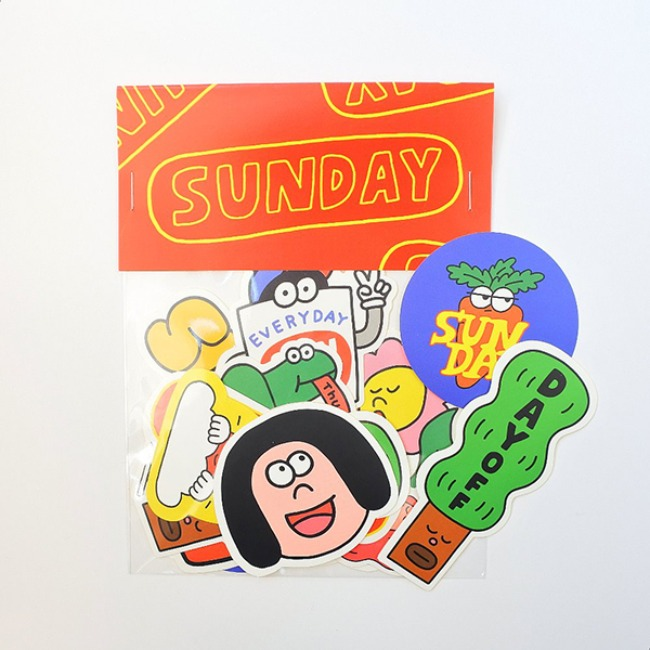 [KKKIM] SUNDAY STICKER PACK