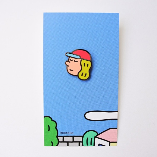 [KKKIM] Pin badge_Delivery man