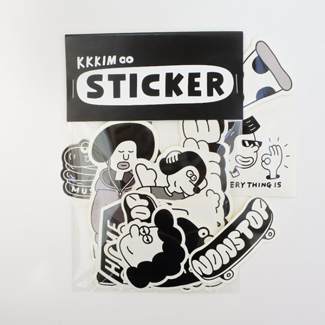 [KKKIM] BLACK STICKER PACK
