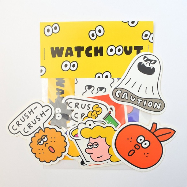 [KKKIM] WATCH OUT STICKER PACK