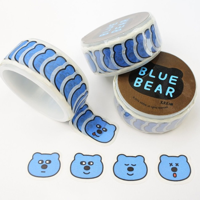 [KKKIM] MASKING TAPE_BLUE BEAR