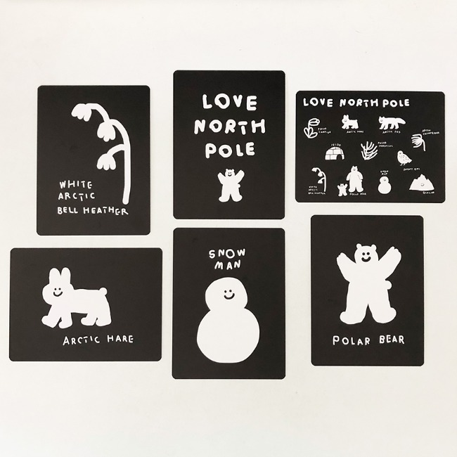 [이나피스퀘어] LOVE NORTH POLE POSTCARD